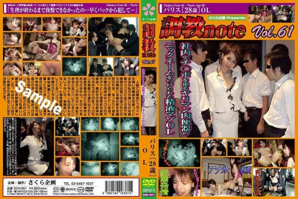 [SCN-061] 調教note Vol.61 パリス[28歳]OL Torture note Vol.61 Paris OL [28 years] 1.65 GB