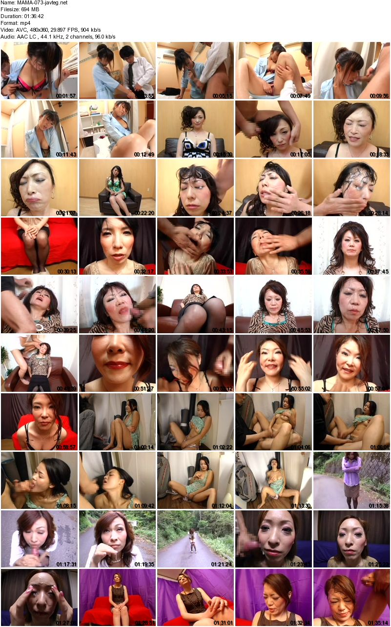 [MAMA-073] 濃厚顔射 熟女の顔に濃厚ザーメンぶっ掛けたい You Want To Apply Thick Semen Bukkake On The Face Of Mature Woman And Injection Thick Face 694 MB