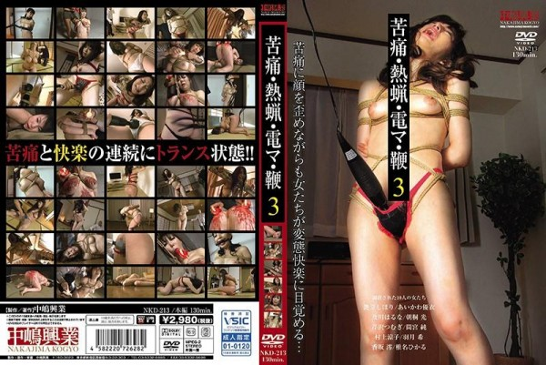 [NKD-213] 苦痛・熱蝋・電マ・鞭 3 Pain · Hot Wax · Electric Wire · Whip 3 1.82 GB